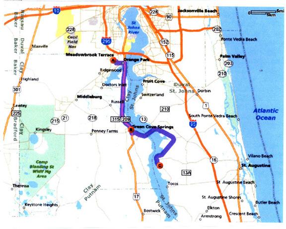 Travel Directions From Orange Park Jacksonville Flordia 32073
